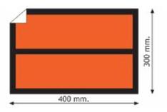 ADR Etiketter 40x30 cm - 25 st