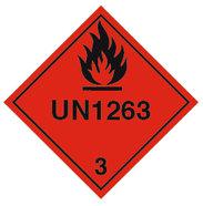 Varningsetikett UN 1263