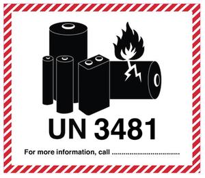 Litiumbatteri UN 3481