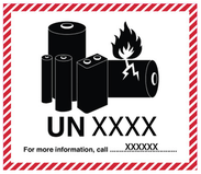 Litiumbatteri märkning