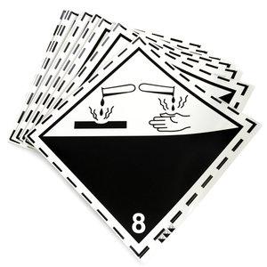 Klass 8 - Storetiketter 25x25 cm - 25 st