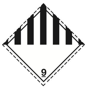 Klass 9 - Storetiketter 25x25 cm -  25 st