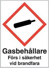 Varningsskylt Gasflaskor